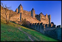 Medieval fortified city. Carcassonne, France ( color)