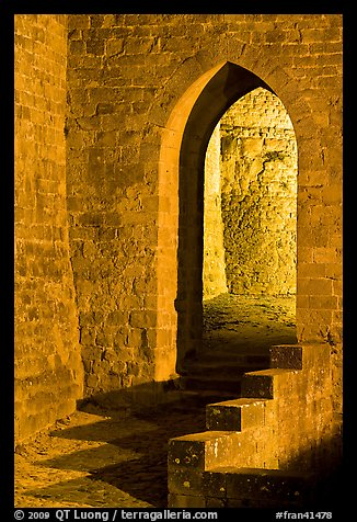 Stone gate. Carcassonne, France (color)