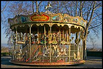 19th century merry-go-round. Carcassonne, France ( color)