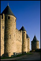 Inner fortification walls. Carcassonne, France (color)