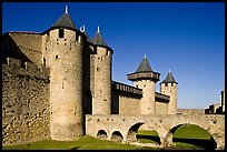 Chateau Comtal inside medieval city. Carcassonne, France ( color)
