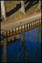 Footpath and reflections, Canal du Midi. Carcassonne, France ( color)