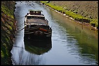 Barge, Canal du Midi. Carcassonne, France ( color)