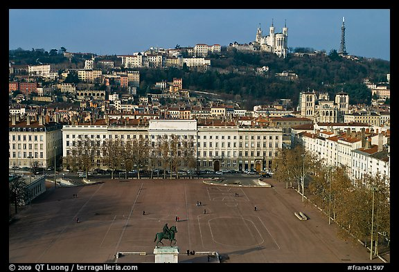 Place Bellecour. Lyon, France (color)