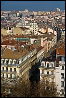 Aerial view of city heart. Lyon, France