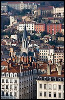 View of city and St-George church. Lyon, France (color)