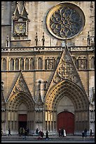 Facade of Saint Jean Cathedral. Lyon, France
