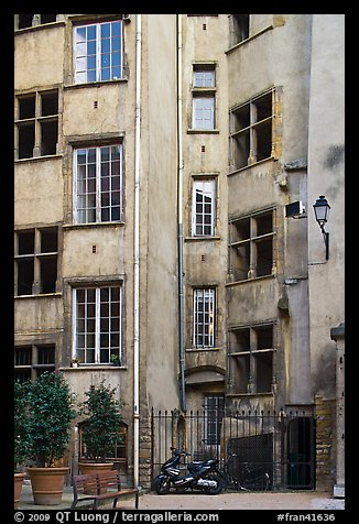 Old house in historic district. Lyon, France (color)