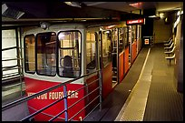 Vieux Lyon Fourviere  Funiculaire, lower station. Lyon, France (color)