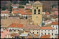 Red tile rooftops and church tower, Orange. Provence, France ( color)