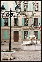 Town square, Orange. Provence, France ( color)