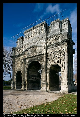 Triumphal arch, Orange. Provence, France (color)
