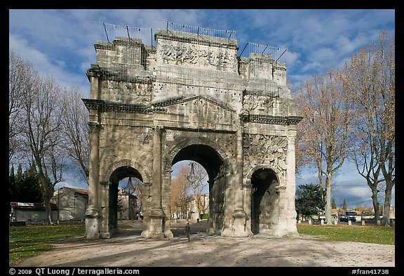Picture Photo Ancient Roman Arch Orange Provence France