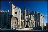 Palace of the Popes. Avignon, Provence, France ( color)