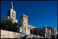 Cathedral of Notre-Dame-des-Doms and Palace of the Popes. Avignon, Provence, France ( color)