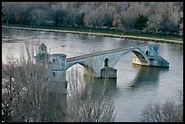 Pont St Benezet and Rhone River. Avignon, Provence, France