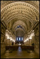 Romanesque nave of Cathedral of Notre-Dame-des-Doms. Avignon, Provence, France (color)