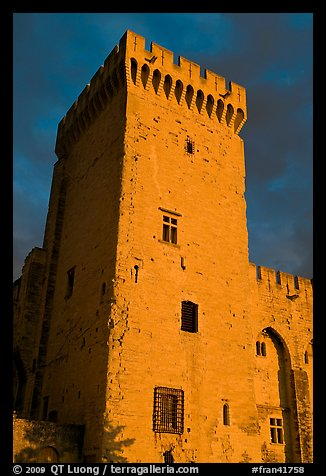Medieval tower. Avignon, Provence, France (color)