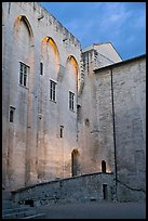 Wall of honnor courtyard. Avignon, Provence, France