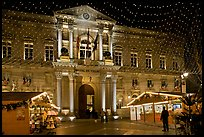 City Hall with Christmas Lights. Avignon, Provence, France
