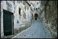 Narrow street, Les Baux-de-Provence. Provence, France ( color)