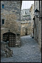 Stone streets and houses, Les Baux-de-Provence. Provence, France