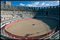 Inside the Roman amphitheater. Arles, Provence, France (color)