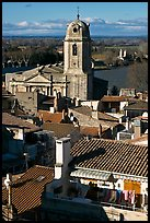 Church and rooftops. Arles, Provence, France ( color)