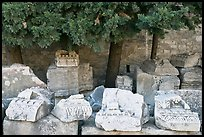 Ruined blocks of the antique theater. Arles, Provence, France