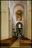 Interior nave of St Trophime church. Arles, Provence, France ( color)