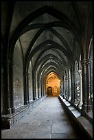 Gothic gallery, St Trophimus cloister. Arles, Provence, France (color)