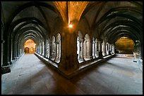 Galleries, Saint Trophimus cloister. Arles, Provence, France (color)