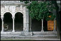 Cloister, Saint Trophimus church. Arles, Provence, France (color)