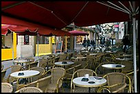 Cafe outdoor terrace, Cours Mirabeau. Aix-en-Provence, France ( color)