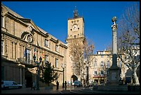 City hall and plaza. Aix-en-Provence, France ( color)