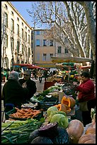 Vegetable market. Aix-en-Provence, France