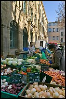 Daily Farmer's market, place Richelme. Aix-en-Provence, France ( color)