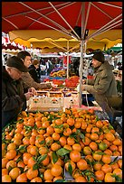 Fruit stall, place Richelme open-air market. Aix-en-Provence, France
