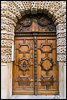 Decorated wooden door. Aix-en-Provence, France ( color)