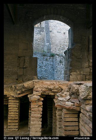 Detail of Roman Bath. Arles, Provence, France (color)