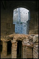 Detail of Roman Bath. Arles, Provence, France