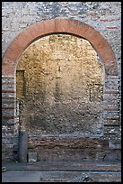 Arch opening in Thermes de Constantin. Arles, Provence, France (color)