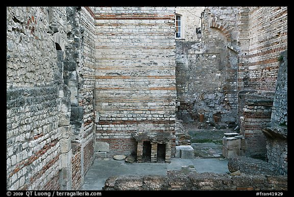 Baths of Constantine. Arles, Provence, France (color)