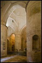 Interior of Saint Honoratus church, Alyscamps. Arles, Provence, France