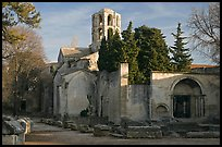Medieval Church of Saint Honoratus in Les Alyscamps. Arles, Provence, France