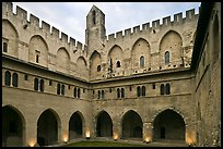 Courtyard, Papal Palace. Avignon, Provence, France ( color)