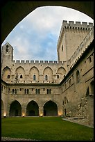 Inside Courtyard, Palace of the Popes. Avignon, Provence, France