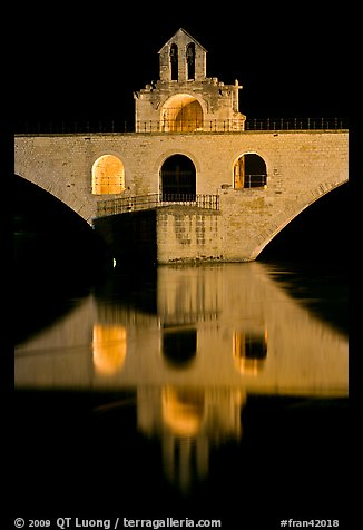 Chapel of Saint Nicholas on the St Benezet Bridge. Avignon, Provence, France