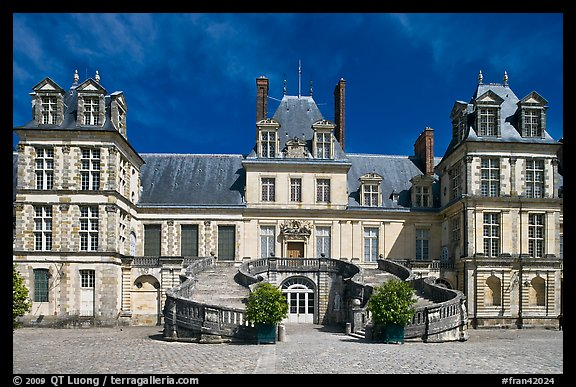 Palace of Fontainebleau. France (color)