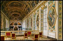 Chapel seen from upper floor, Fontainebleau Palace. France